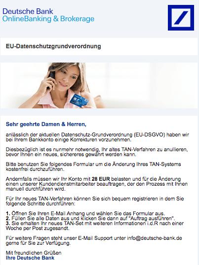 2018-06-18 Deutsche Bank Spam Informationen zu Ihrem Deutsche Bank-Konto