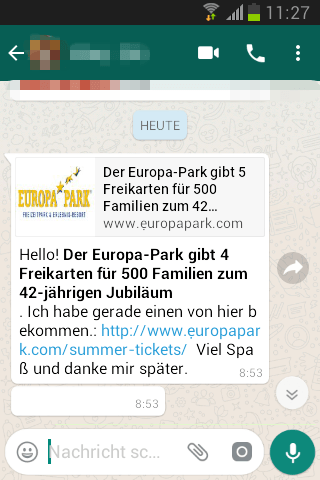 2018-06-20 WhatsApp Europapark Tickets