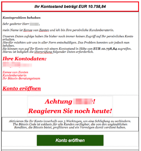 2018-06-28 Spam Mail Kotostand Bitcoin Spam