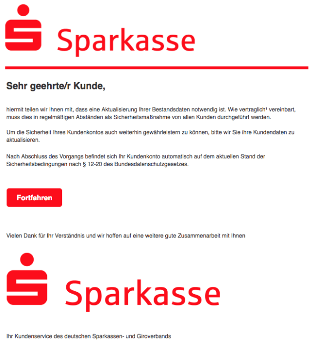 2018-06-29 Sparkasse Aktualisierung Ihres Sparkassen-Konto