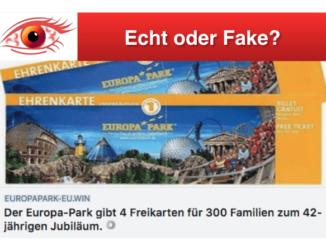 2018-07-02 Facebook Europa-Park Gewinnspiel 4 Freikarten fuer 300 Familien