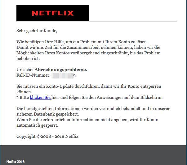 2018-07-05 Phishing Netflix