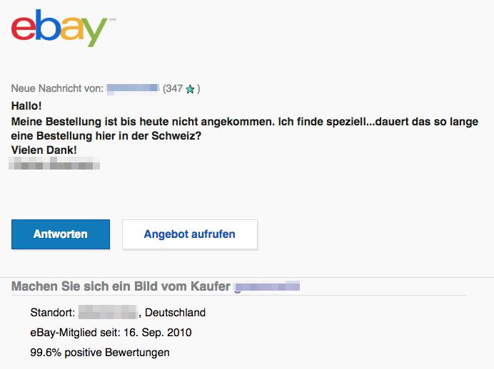 2018-07-25 ebay Spam Anfrage von Käufer