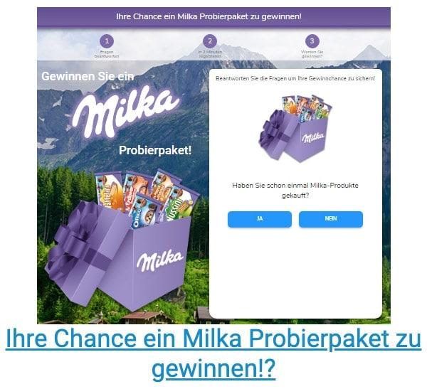 2020-04-02 Milka Testpaket Spam-Mail Gewinnen Sie ein Milka Probierpaket