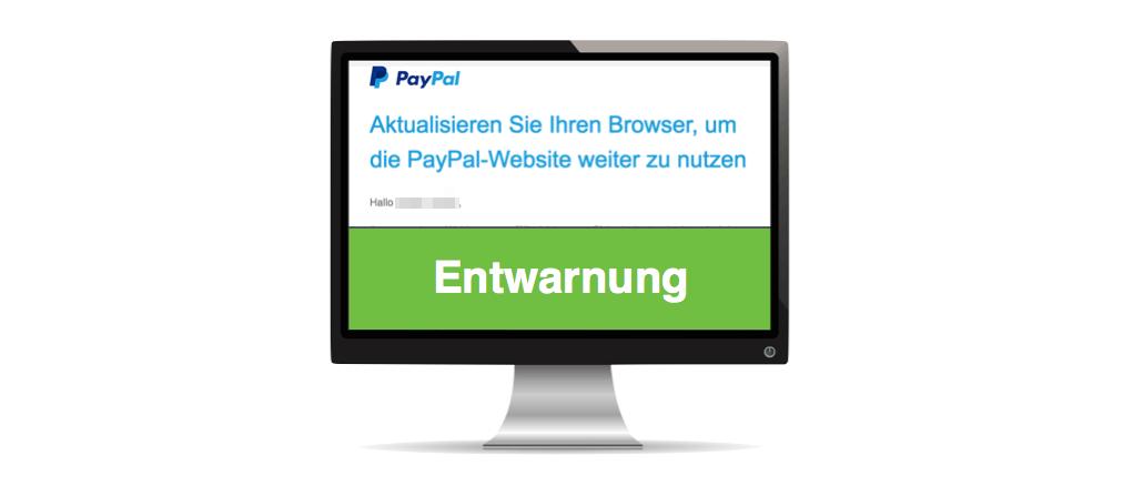 paypal browser aktualisieren