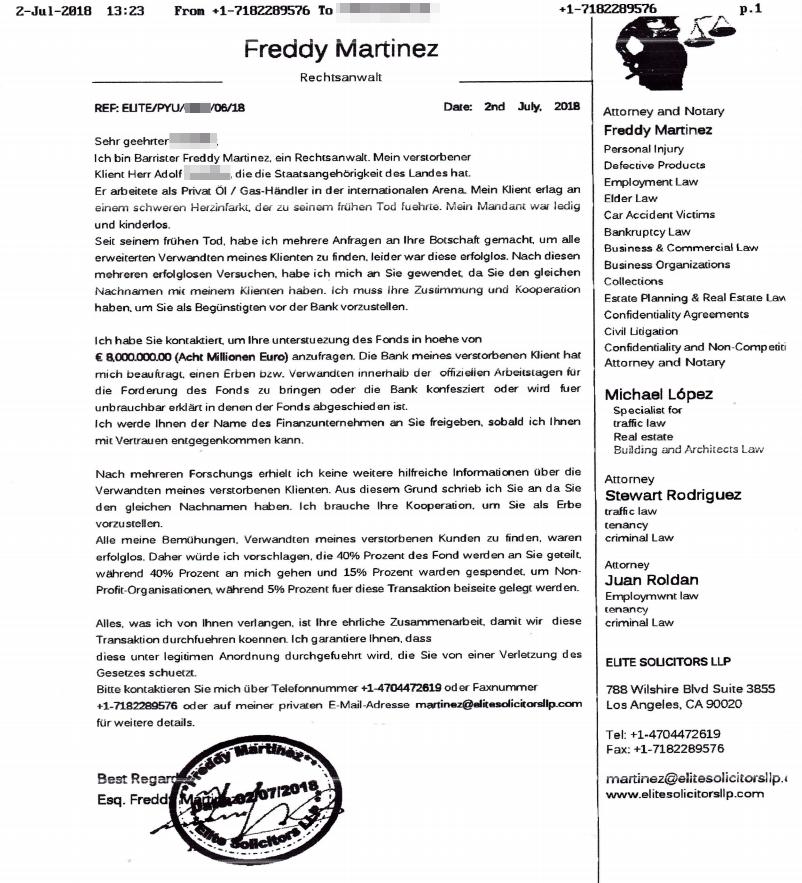 Erben Fax Martinez