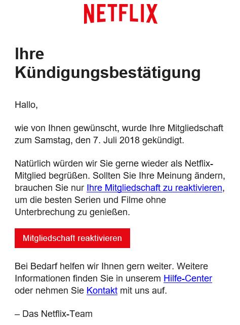 Gratismonat Bei Netflix Kündigen
