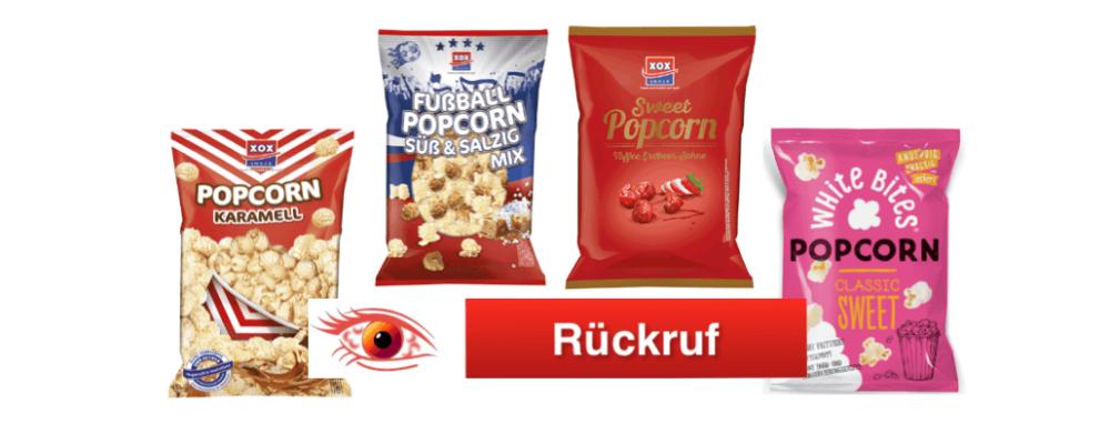 XOX Gebäck GmbH ruft erneut Popcorn zurück – Rewe sowie Onlinehandel betroffen
