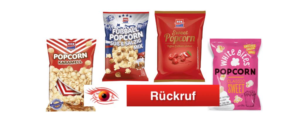 Rückruf Popcorn XOX Gebäck GmbH