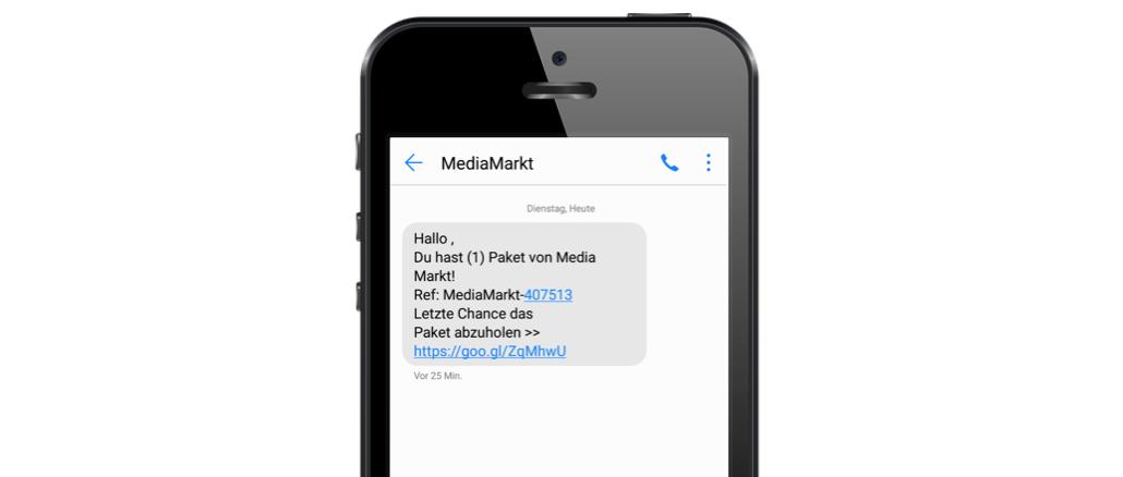 SMS Spam Gewinnspiel Media Markt Datensammler