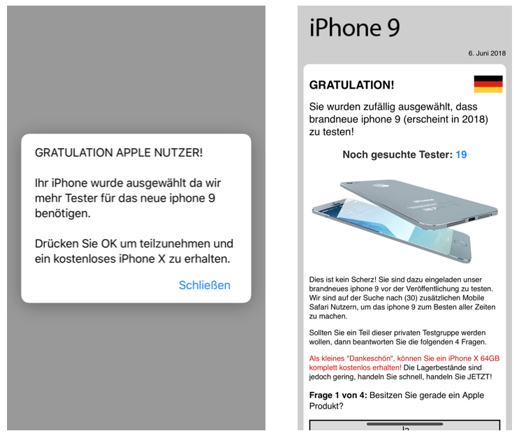 Test iPhone 9 Datensammler