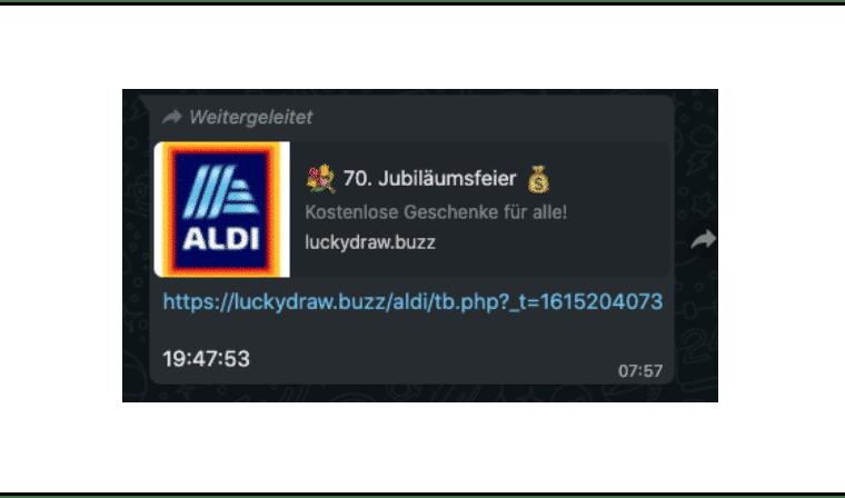 WhatsApp Aldi kostenlose Geschenke Kettenbrief_Titel
