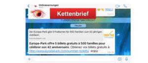 WhatsApp Europa-Park Kettenbrief
