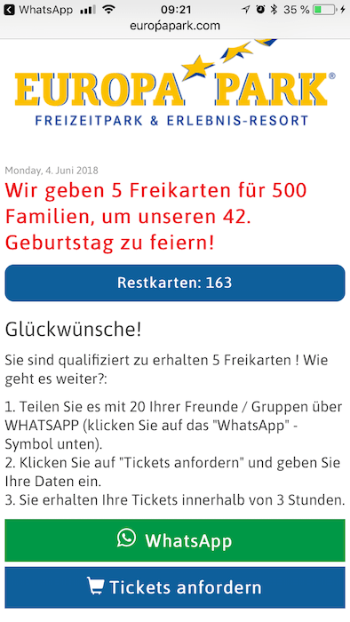 WhatsApp Europa-Park Kettenbrief1