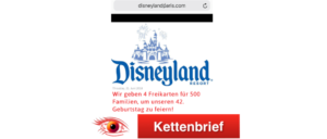 WhatsApp Kettenbrief Disneyland Paris