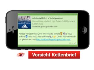 WhatsApp Kettenbrief von Adidas 4