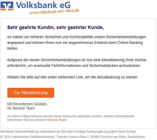 2018-07-10 VR-Banken Phishing