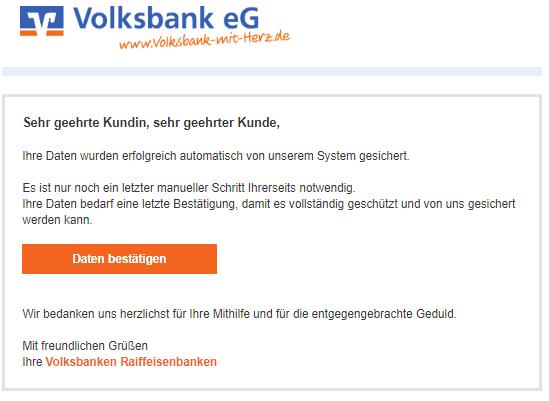 2018-07-10 VR Banken Phishing