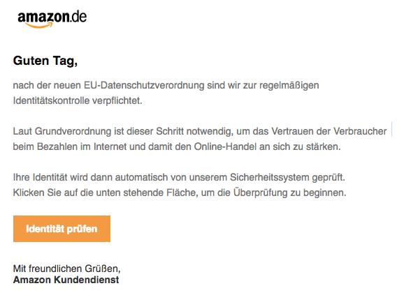 2018-07-20 Amazon Spam Handlung erforderlich