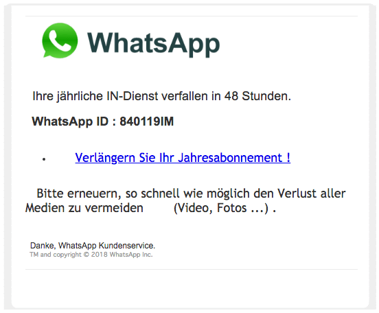 2018-08-20 WhatsApp Phishing