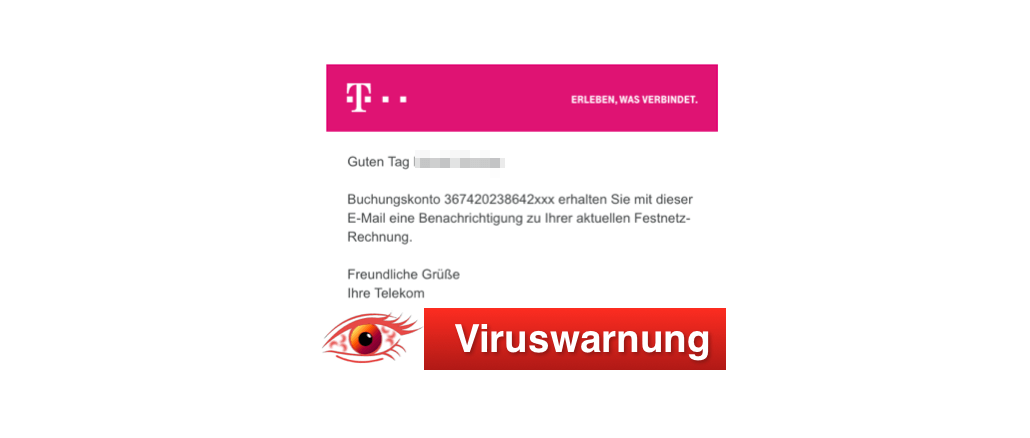 2018-11-13 Telekom E-Mail Virus Rechnung November 2018