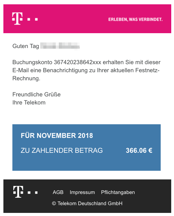 viruswarnung e mail mit telekom rechnungonline f r februar 2019. Black Bedroom Furniture Sets. Home Design Ideas