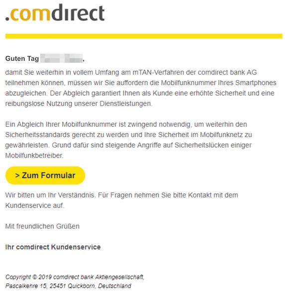 2019-02-05 comdirect Phishing