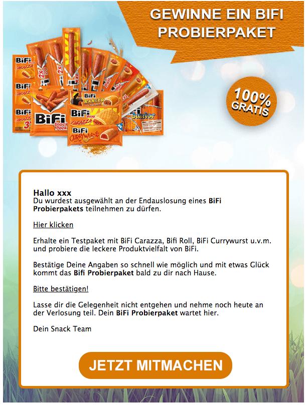E-Mail BiFi Probierpaket