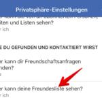 Facebook Freundesliste verbergen 4