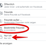 Facebook Freundesliste verbergen 5