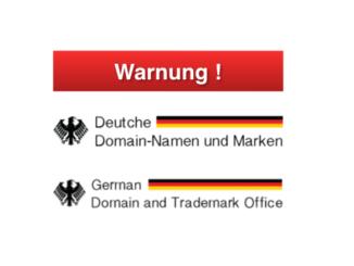 Fake Warnung Domain Anbieter Deutsche Domain-Namen und Marken