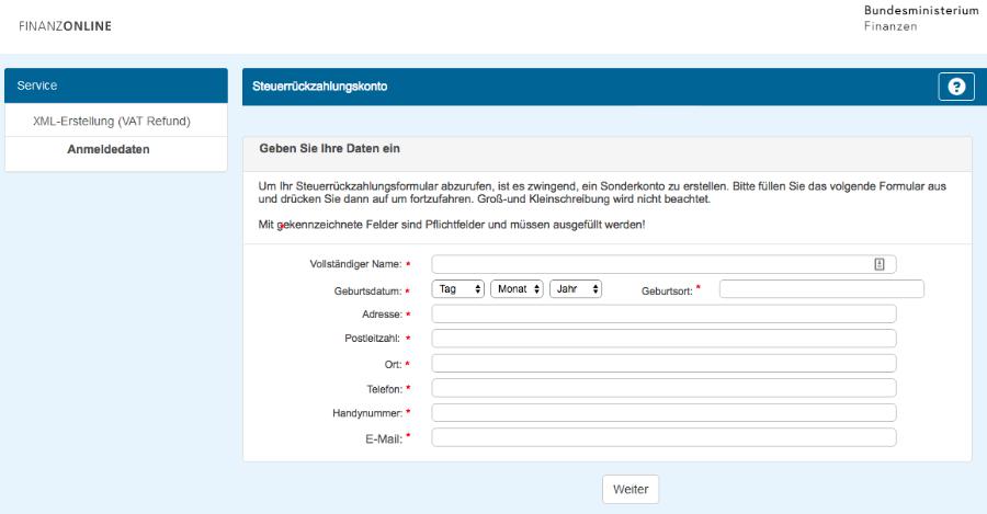 Fake Webseite Bundesfinanzministerium 1
