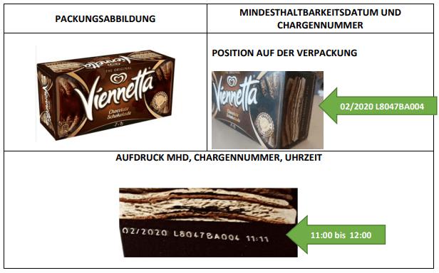 Rückruf Vienetta Schokoladeneis1