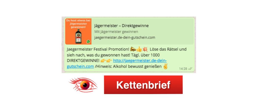 WhatsApp Kettenbrief Jägermeister