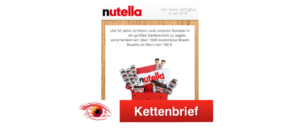 WhatsApp Nutella Box Kettenbrief