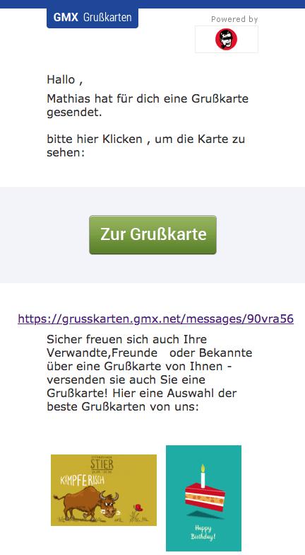 2018-08-15 GMX Phishing Grusskarte Benachrichtigung Deine Grüßkarte von Mathias