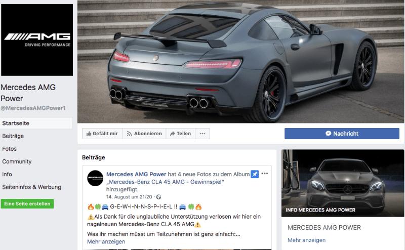 2018-08-16 Fake Gewinnspiel Facebook Mercedes-Benz