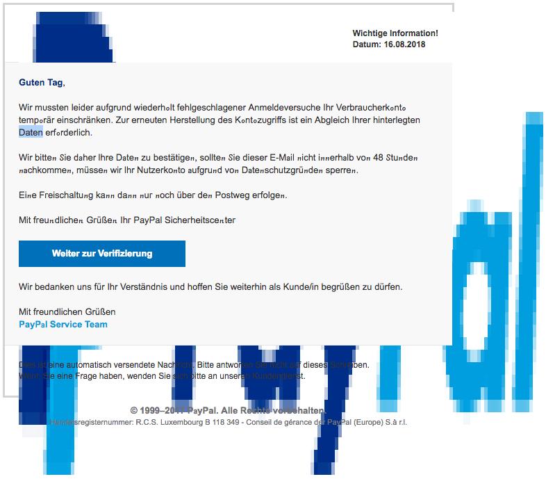 2018-08-17 PayPal Phishing