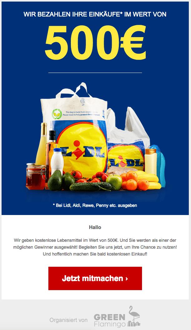2018-08-20 Datensammler 500 Euro Lidl Gutschein