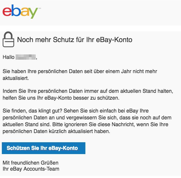 2018-08-20 ebay E-Mail Helfen Sie uns Ihr eBay-Konto zu schützen