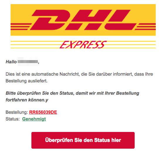 2018-08-22 DHL Express Spam Mail Werbung Gewinnspiele Geplante Lieferung