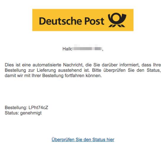 2018-08-22 Deutsche Post Spam Mail Werbung Gewinnspiele Bestellnummer