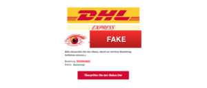 2018-08-22 Fake-Mails Spam Werbung im Namen von DHL