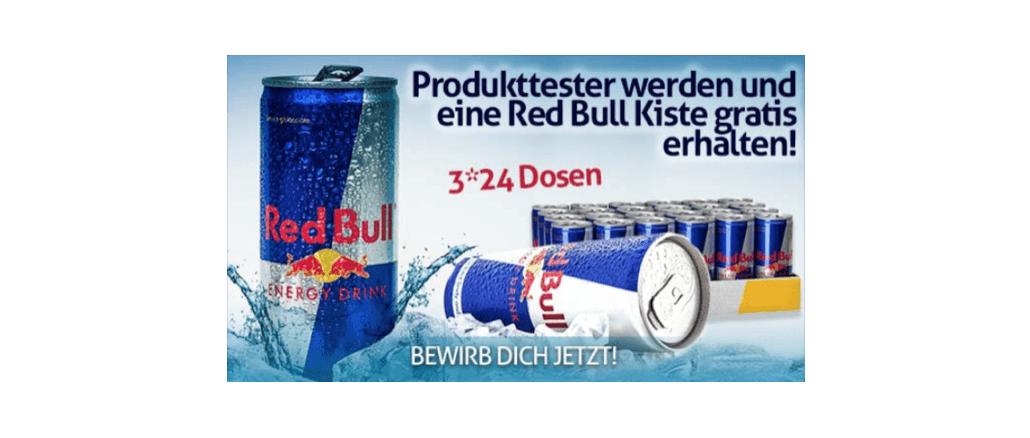 2018-08-24 E-Mail im Namen von Red Bull gratis Energy Drink Produkttester