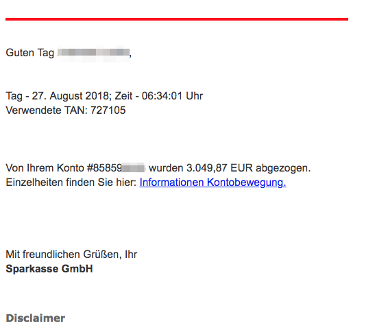 2018-08-27 Sparkasse Spam Phishing Mail Zahlungseingang