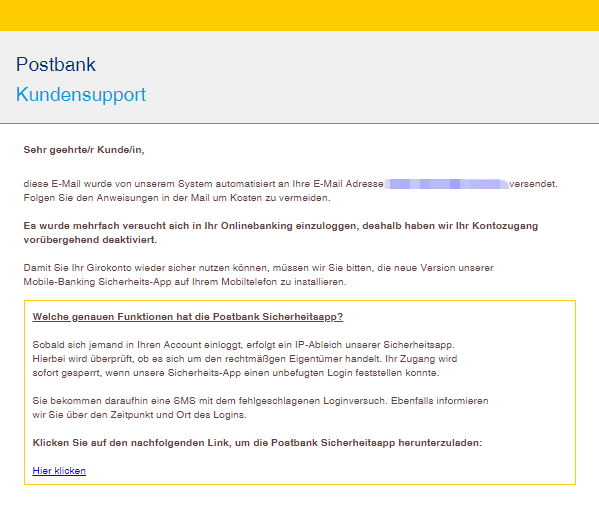 2018-09-03 Postbank Phishing