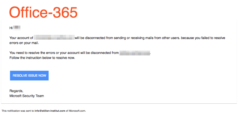 2018-09-04 Microsoft Spam Office 365 Account-Deactivation