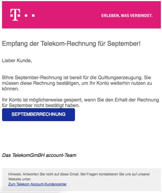 Telekom Fake Rechnung