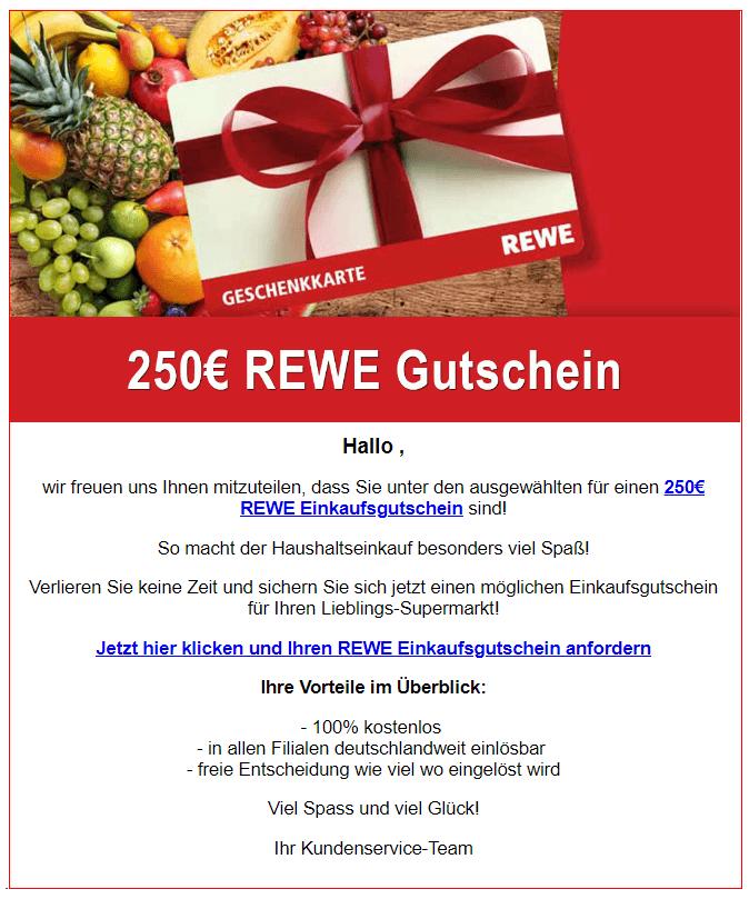 250 Euro Rewe Gutschein