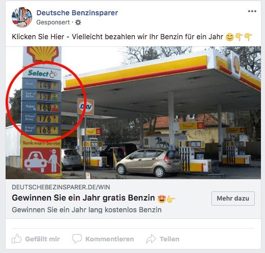 Facebook Gewinnspiel Deutsche Benzinsparer